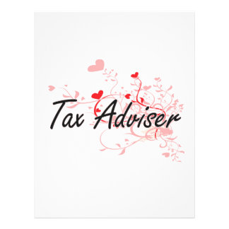 Tax Adviser Artistic Job Design with Hearts 21.5 Cm X 28 Cm Flyer