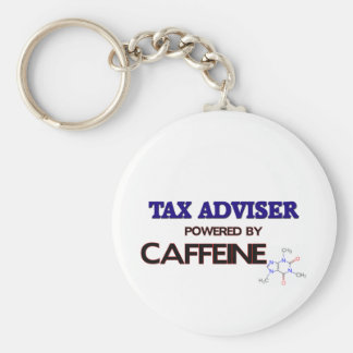 Tax Adviser Powered by caffeine Key Ring