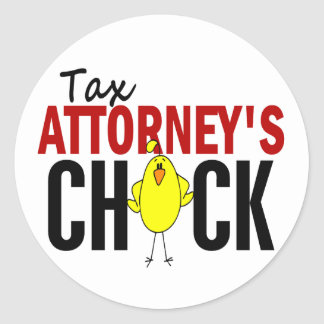 Tax Attorney's Chick Round Sticker