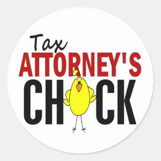 Tax Attorney's Chick Round Sticker