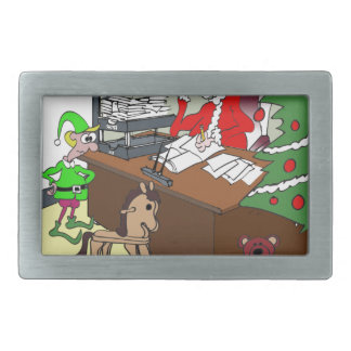 Tax Cartoon 9532 Rectangular Belt Buckle