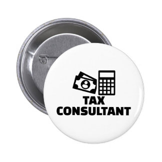 Tax consultant 6 cm round badge