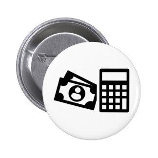 Tax consultant calculator 6 cm round badge