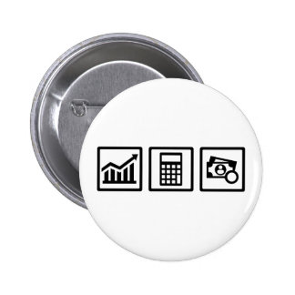 Tax consultant icons 6 cm round badge