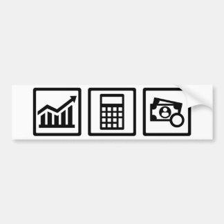 Tax consultant icons bumper sticker