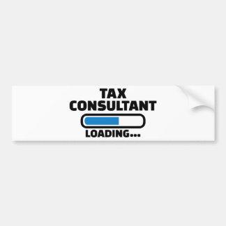 Tax consultant loading bumper sticker