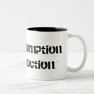 Tax Consumption Not Production™ Two-Tone Mug