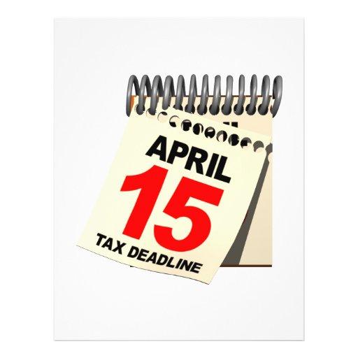 Tax Deadline Flyer