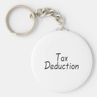 Tax Deduction Basic Round Button Key Ring