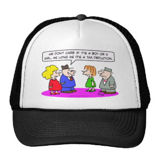 tax deduction pregnant boy or girl hats