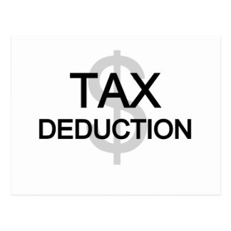 Tax Deduction Tshirts and Gifts Postcard