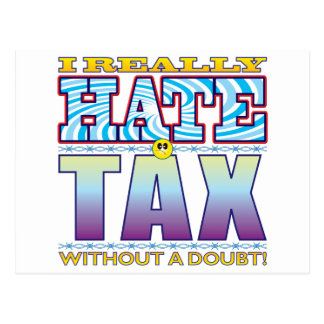 Tax Hate Face Postcard