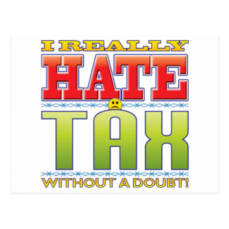 Tax Hate Face Postcards