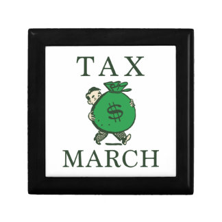 Tax March Small Square Gift Box