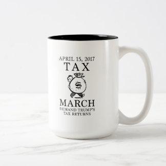 Tax March Two-Tone Coffee Mug