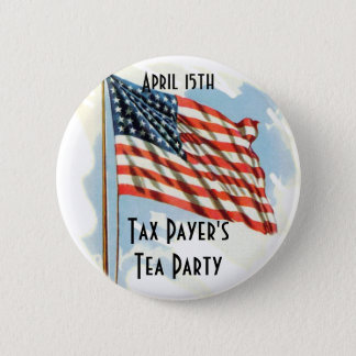 Tax Payers Tea Party 6 Cm Round Badge