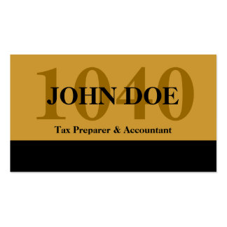 Tax Prep Stripe 1040 Gold Pack Of Standard Business Cards