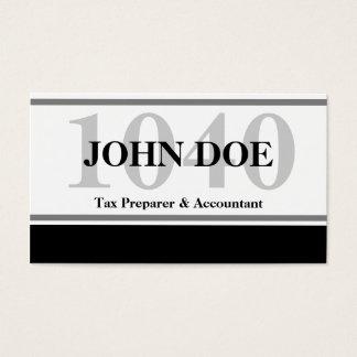 Tax Prep Stripe 1040 White Business Card