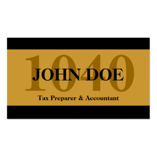 Tax Prep Stripes 1040 Gold Pack Of Standard Business Cards