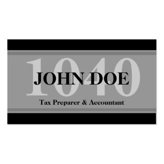 Tax Prep Stripes 1040 Graphite Pack Of Standard Business Cards