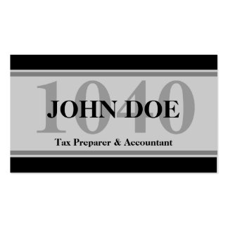 Tax Prep Stripes 1040 Grey Pack Of Standard Business Cards