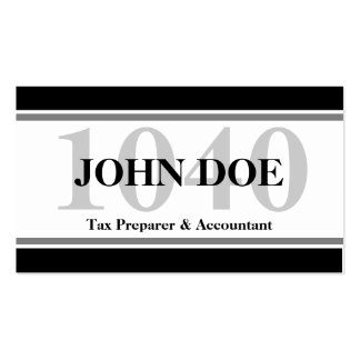 Tax Prep Stripes 1040 White Pack Of Standard Business Cards