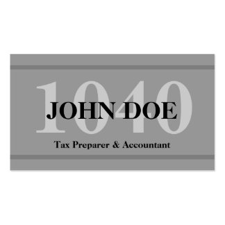 Tax Preparation 1040 Graphite Pack Of Standard Business Cards