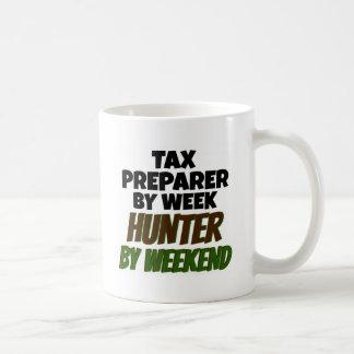 Tax Preparer Loves Hunting Basic White Mug