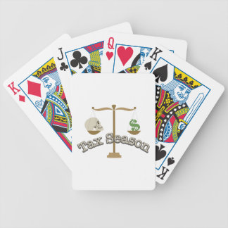 Tax Season Bicycle Playing Cards