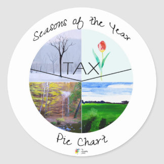Tax Season Pie Chart Sticker