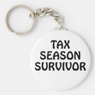 Tax Season Survivor Key Ring