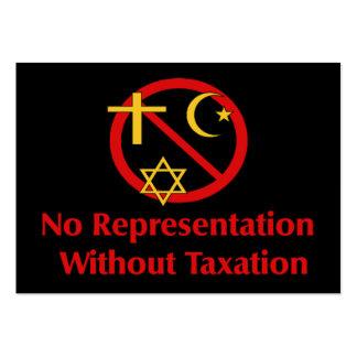 Tax The Churches Business Card Templates