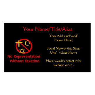 Tax The Churches Pack Of Standard Business Cards