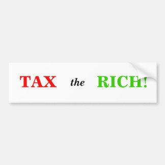 Tax the Rich Car Bumper Sticker