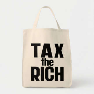 Tax The Rich Grocery Tote Bag