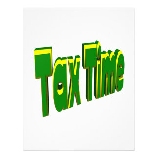 Tax Time 21.5 Cm X 28 Cm Flyer
