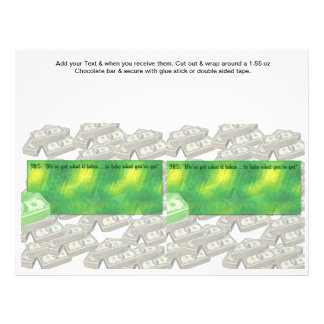 Tax time Accounting Custom Candy Bar Wrappers 21.5 Cm X 28 Cm Flyer