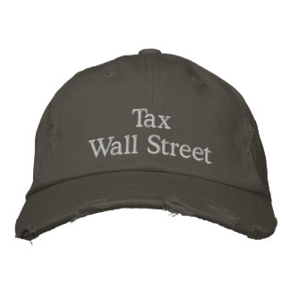 Tax Wall Street Embroidered Hat