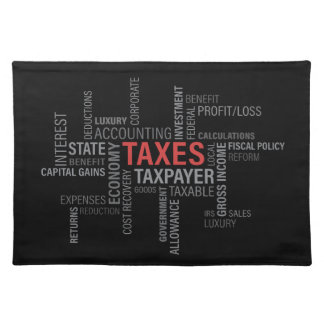 """""""Taxes"""" Placemat"""