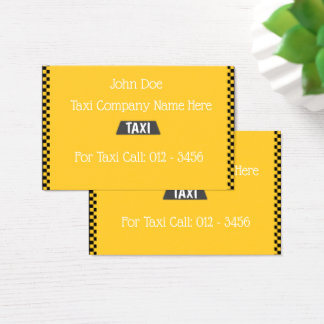 Taxi-Based Business Cards