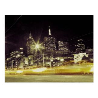Taxi Blur Postcard