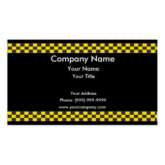 Taxi Border Pack Of Standard Business Cards