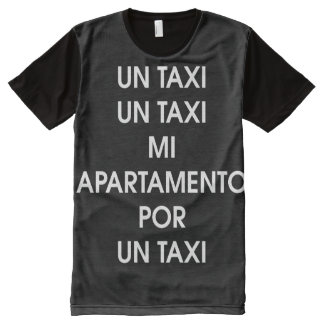 Taxi by Leslie Peppers [Spanish Version] All-Over Print T-Shirt