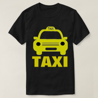 Taxi Cab and Text on Men's Basic Dark T-Shirt
