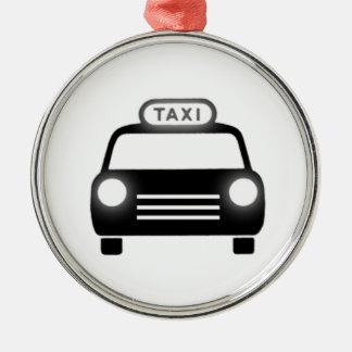 Taxi Cab Metal Ornament