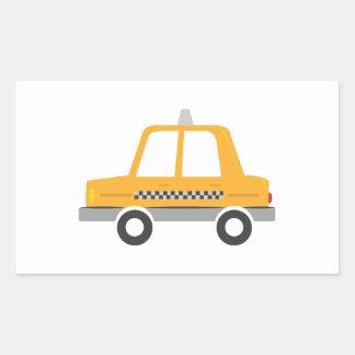 Taxi Cab Rectangular Sticker
