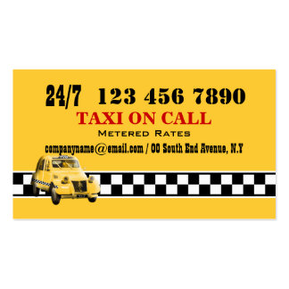 Taxi cab yellow black white #5 business card template