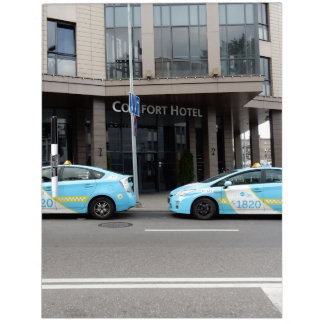 Taxi Cabs in Vilnius Lithuania Dry-Erase Whiteboards