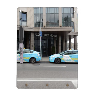 Taxi Cabs in Vilnius Lithuania Dry Erase Whiteboards