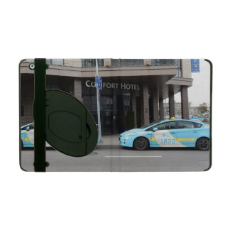 Taxi Cabs in Vilnius Lithuania iPad Cover